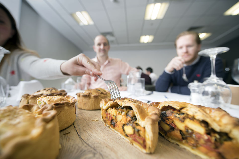 The Bristol Good Food Awards 2018 – pies served at the Ashton Gate Stadium on the judging day